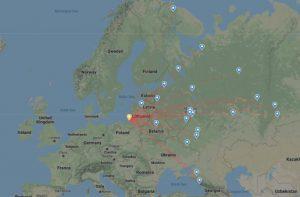 mapa - flightradar24
